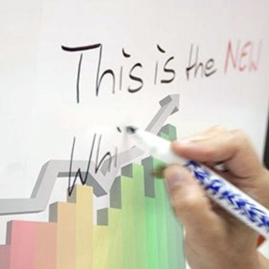 Printed Self-Adhesive Vinyl and Laminated with Matte or Glossy Whiteboard Film (price per sqm