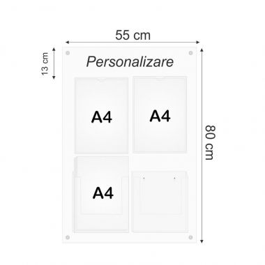 Plexiglas Notice Board 2A4AP2A4BP
