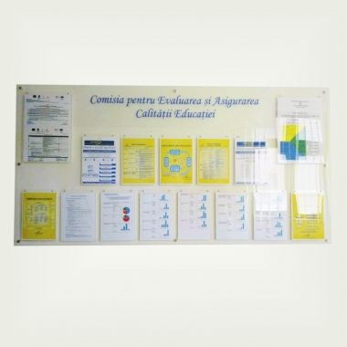 Customized Plexiglas Notice Board - Price depending on size