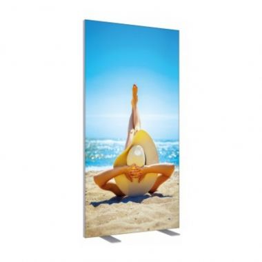 Double-Sided Frameless Fabric Display 100x200cm