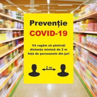 Sticker A2 for COVID-19 Information