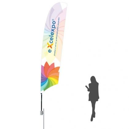 ST050P Feather Flag XL with cross base
