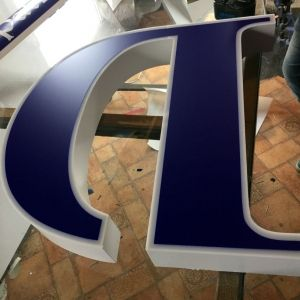 LB103 - Illuminated Volumetric Logos - price depending on configuration
