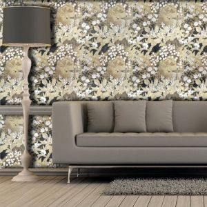 Printed Wallpaper with Pattern (Sand, Brushed Oil, Extra Fine, Fine Linen) (price per sqm*)