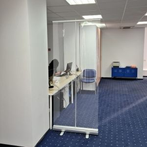 RollUp Banner Office Partition